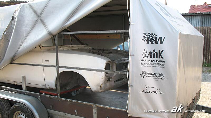 Karosserie bei RSK Motorsport abgeholt